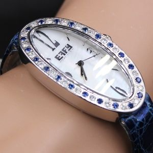 Blue Sapphire Diamond 1.77 Tcw Unisex Luxury Watch
